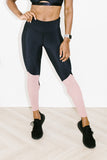 Apex Legging in Chrome Blush + Black