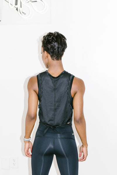 Tie Back Tank in Sterling