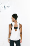 Keyhole Muscle Tank in White