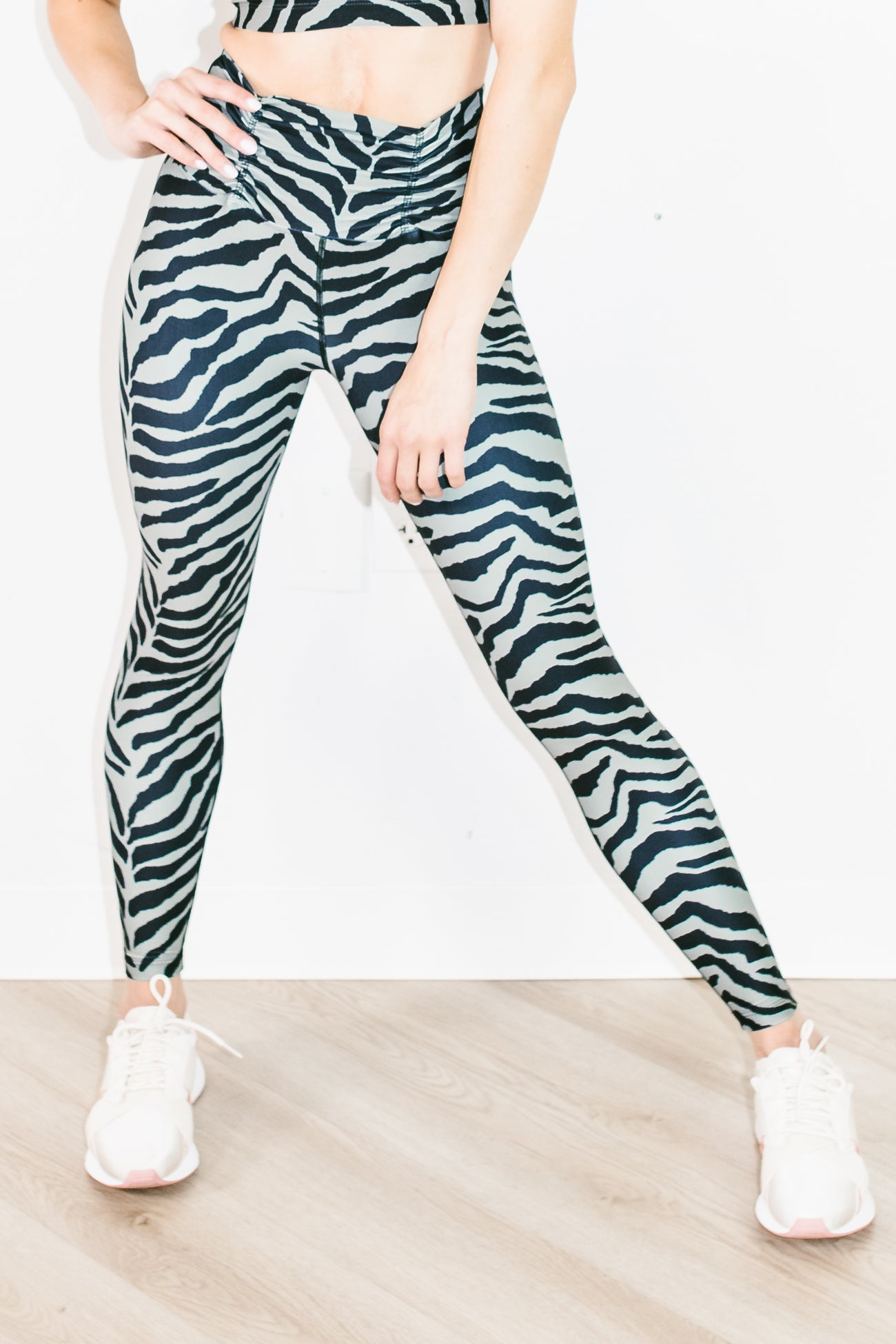 Sofia Tiger Legging in Sage