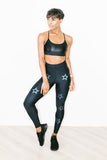 Ultra High Dropout Knockout Legging Nero Moonlight