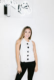 Amina Knockout Racerbank Tank in White