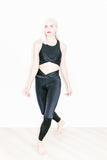 Twist Legging in Black Shine