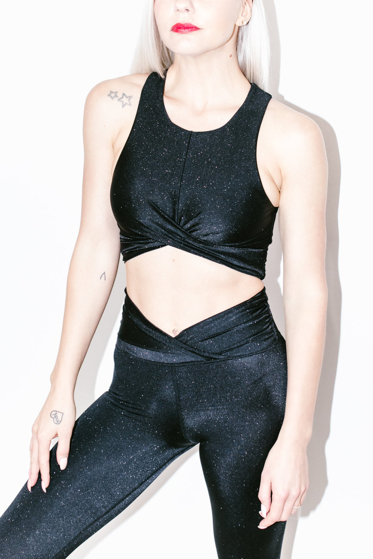 Riot Shine Crop Top in Black