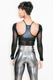 Illusion Bodysuit in Black Mesh