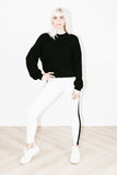 Thermal Track Legging in White