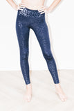 Cheetah Legging in Navy