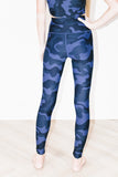 Ava High Waist 7/8 Legging in Blue Camo
