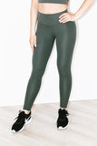 Airweight High Waist Legging 7/8 in Army