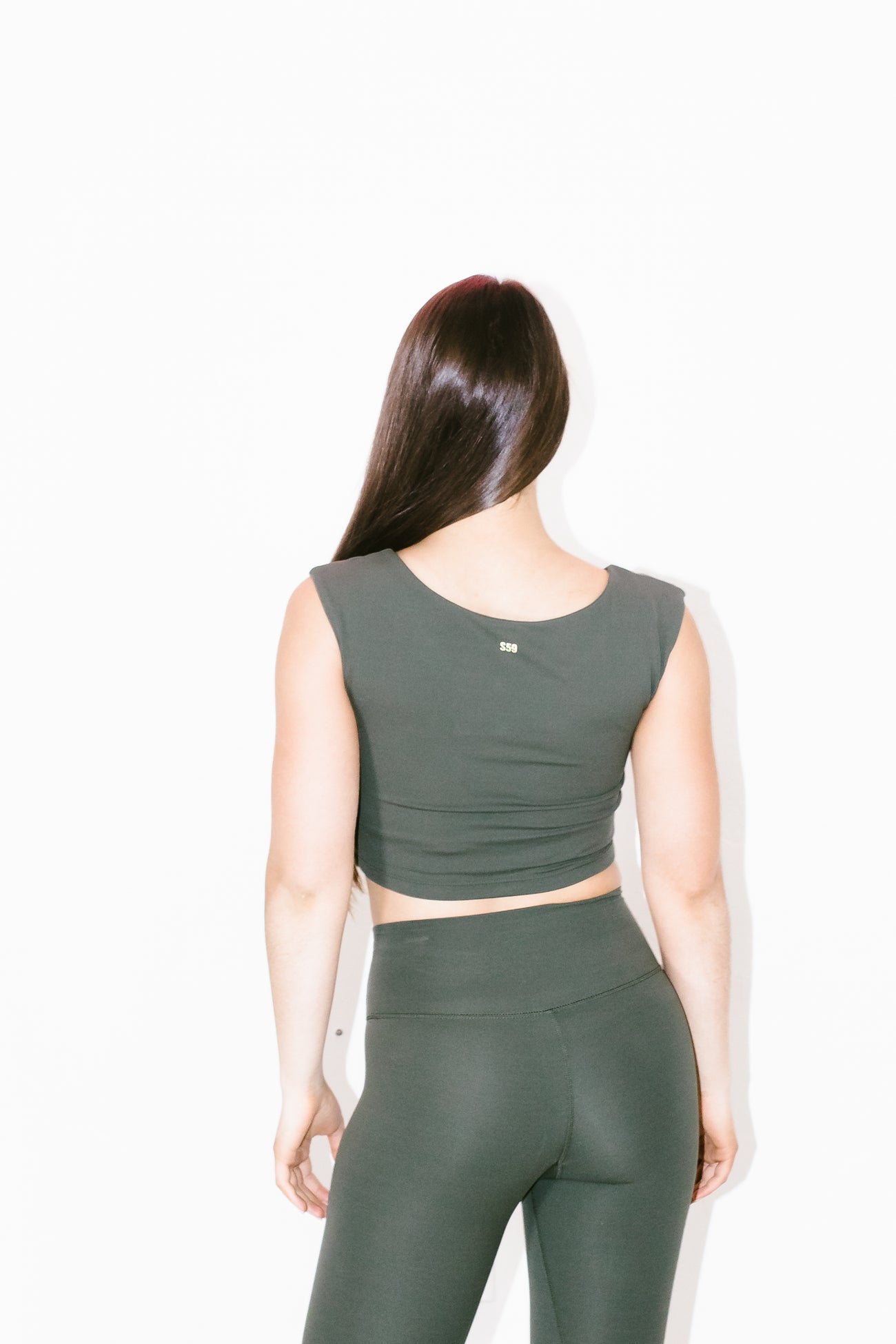 Airweight Cap Sleeve Top in Army