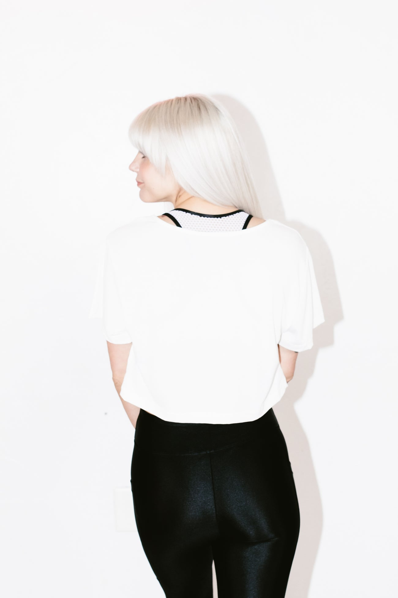 Terrain Cupro Crop Top in White