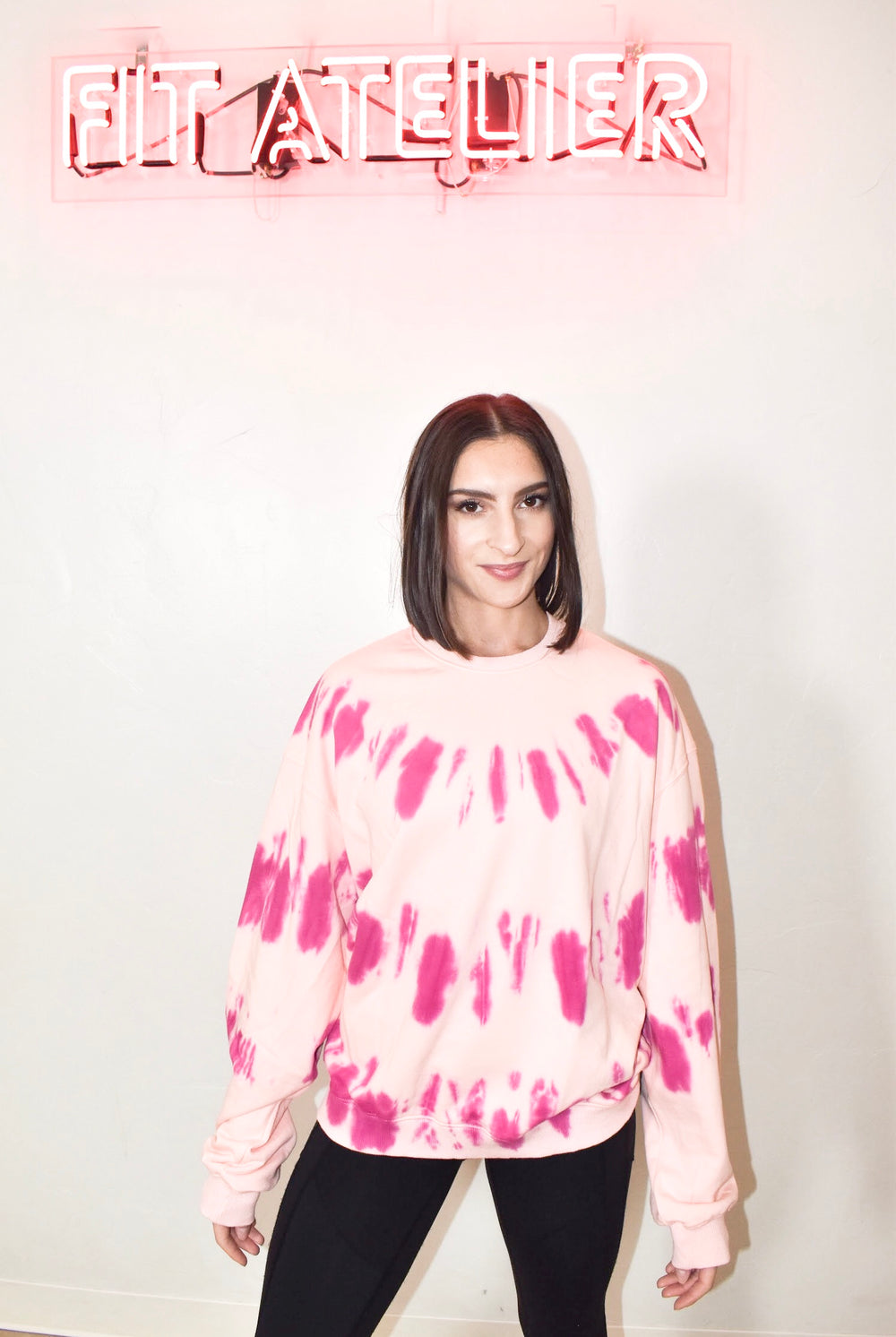 Tie Dye Pullover in Pink
