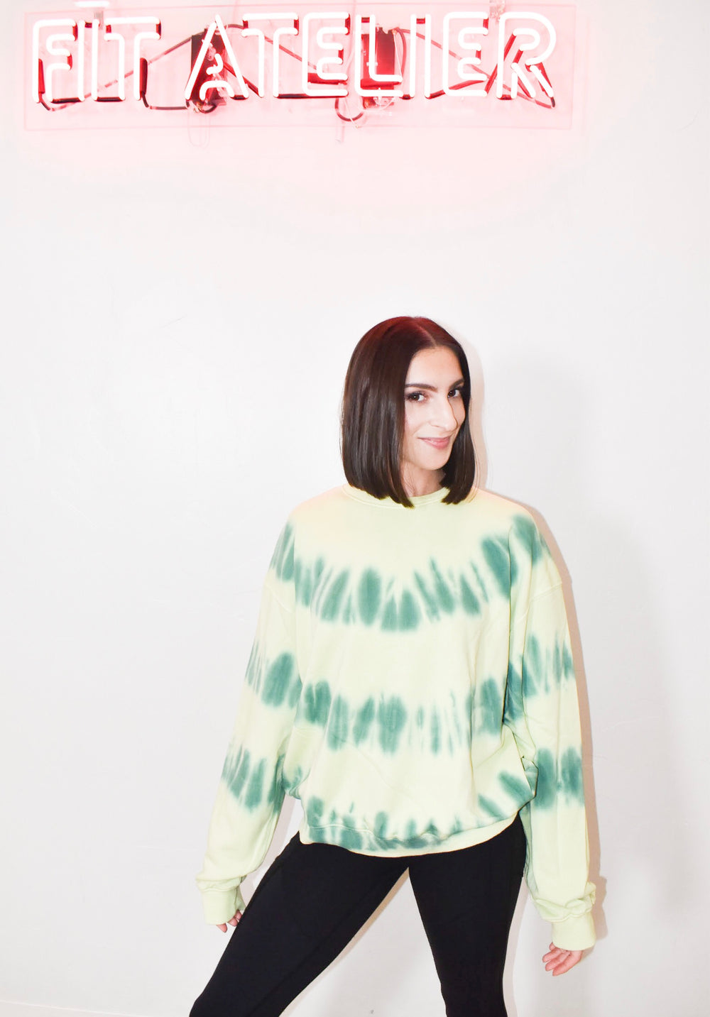 Tie Dye Pullover in Green