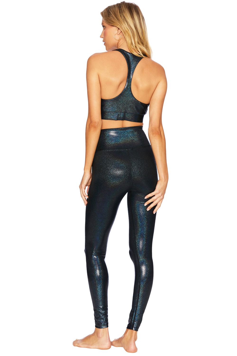 PIPER LEGGING in BLACK HOLOGRAM