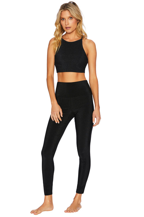 GLITTER AYLA LEGGING in BLACK