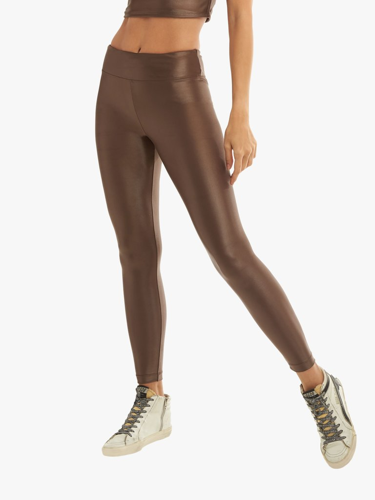 Lustrous High Rise Legging in Cafe