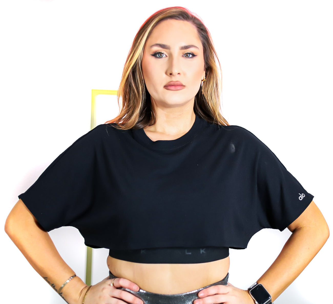 Extreme Crop Tee in Black