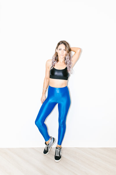 Lustrous High Rise Legging in Aura