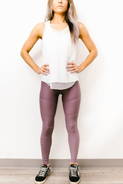 Aerowood Full Length Legging in Mauve