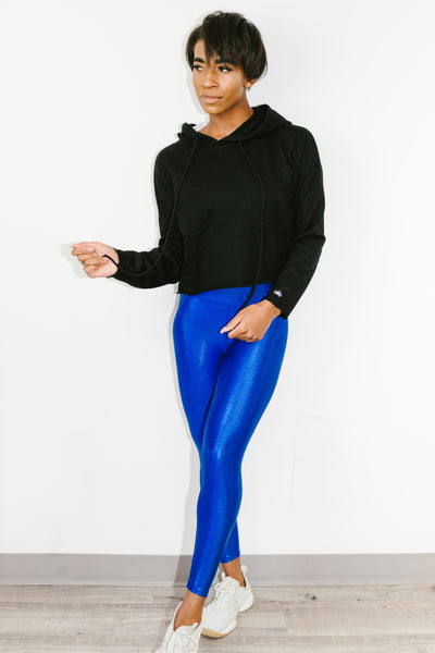 Marvel Legging Metallic Electric Blue