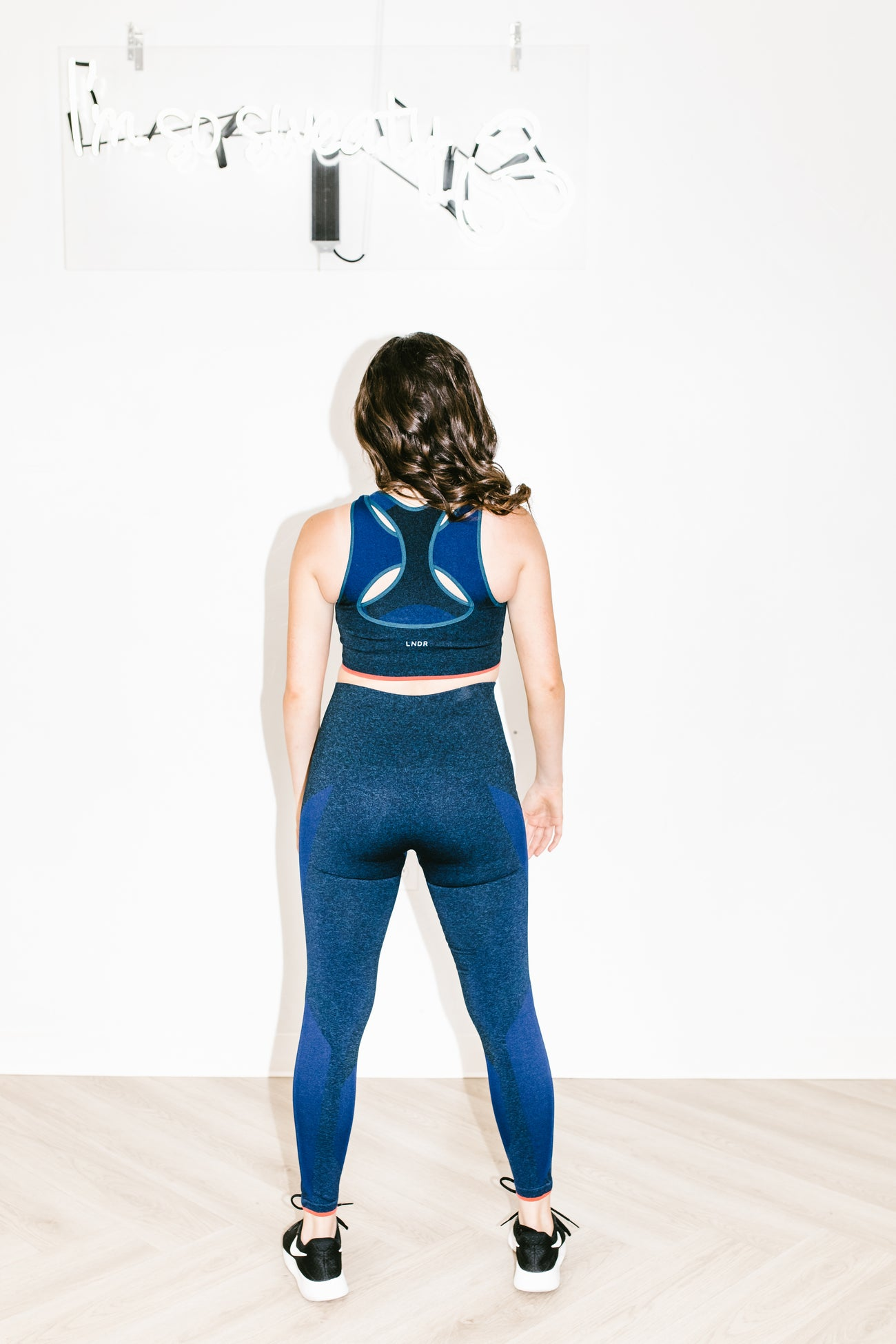 Launch Legging in Deep Blue