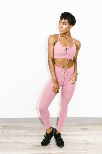 Football Legging in Rose