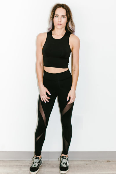 Ignite Crop Top in Black