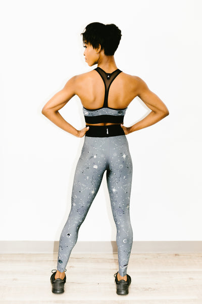 Ultra High Galaxy Legging Brushed Steel