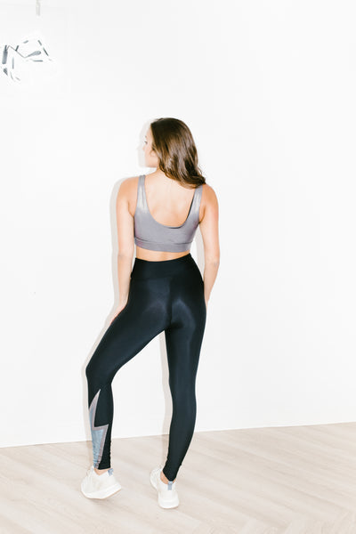 Bolt Legging in Black/Chrome/Glacier Blue