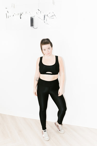Revive Legging in Black Rib