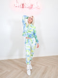 HAND DYED - WOMENS SWEATPANT in TIE DYE NEON YELLOW