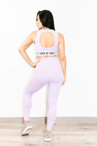 Football Legging in Lilac