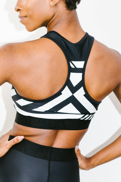 Moto Bra in Black and White