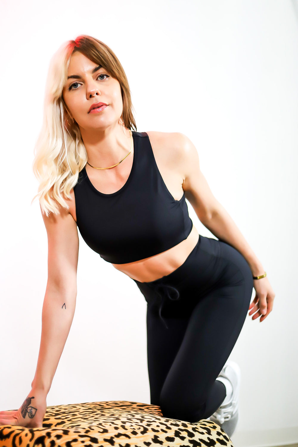 Glenda High Waist Recycled Techflex Legging in Black