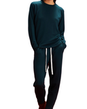 Reena 7/8 Fleece Sweatpants in Forest