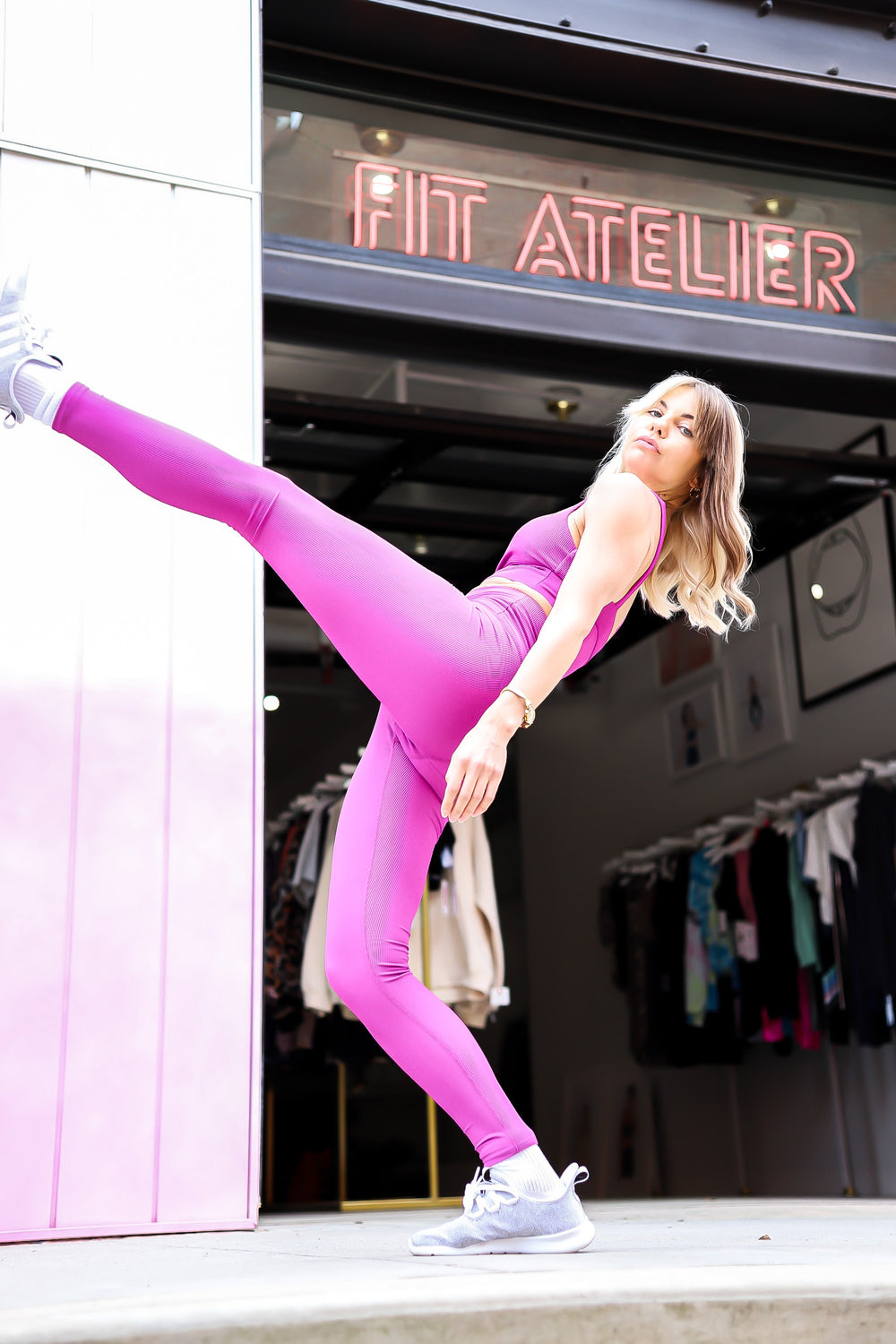 AYLA LEGGING IN MAUVE
