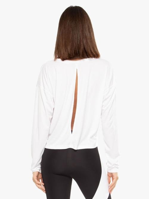 Storm Marlo Long Sleeve Top in White