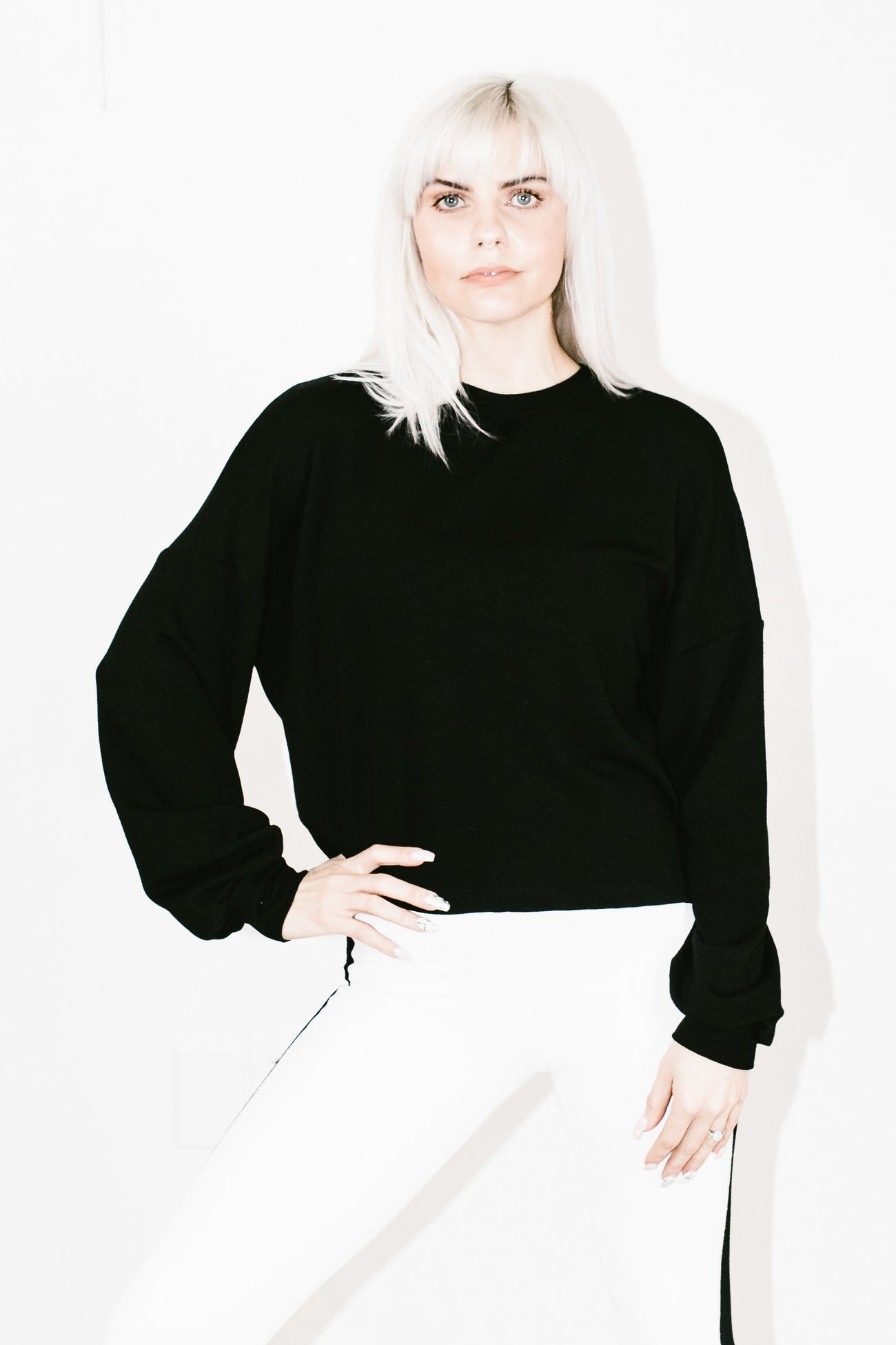 Lindsey Sweatshirt in Black