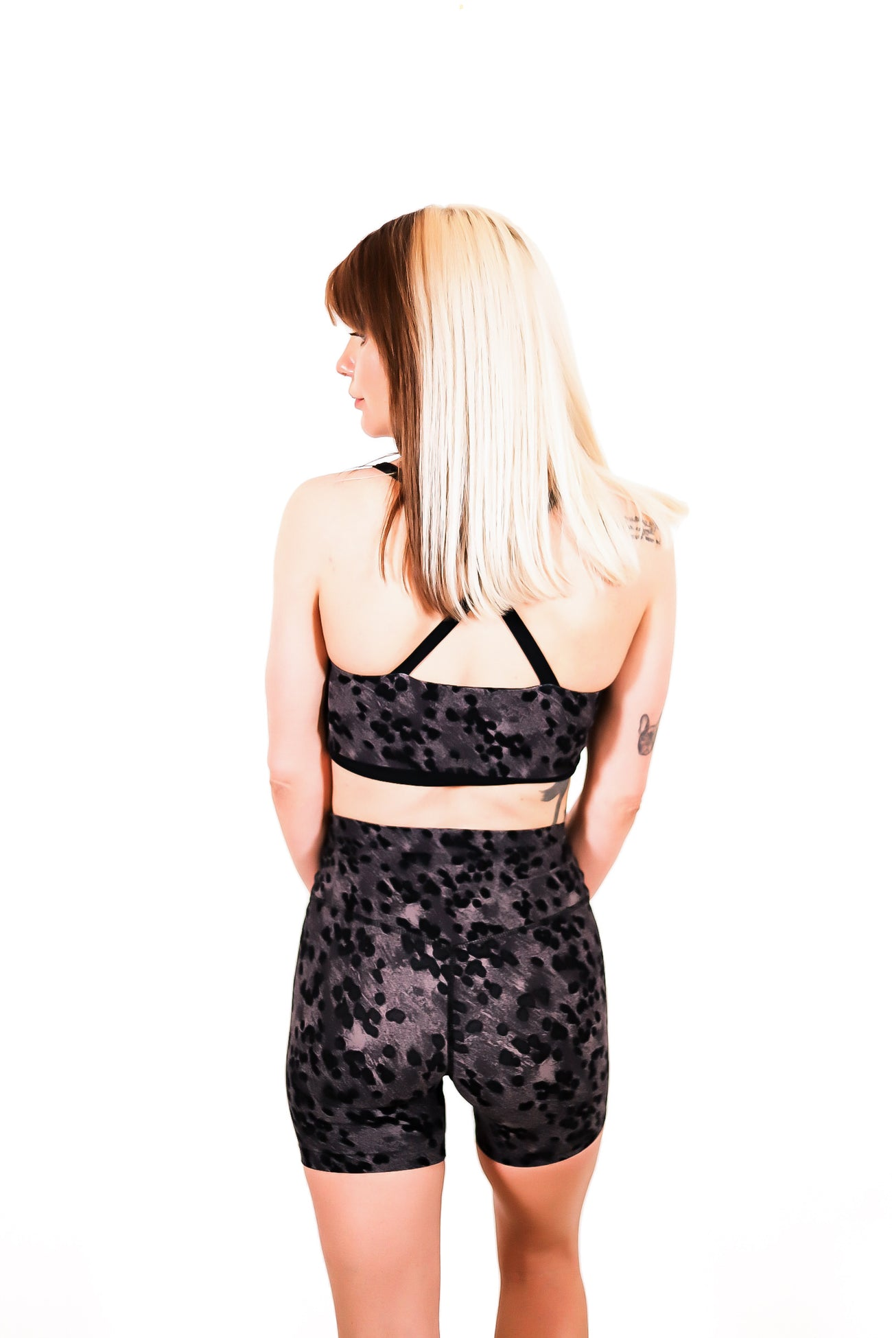 Airweight High Waisted Short in Black Animal Print
