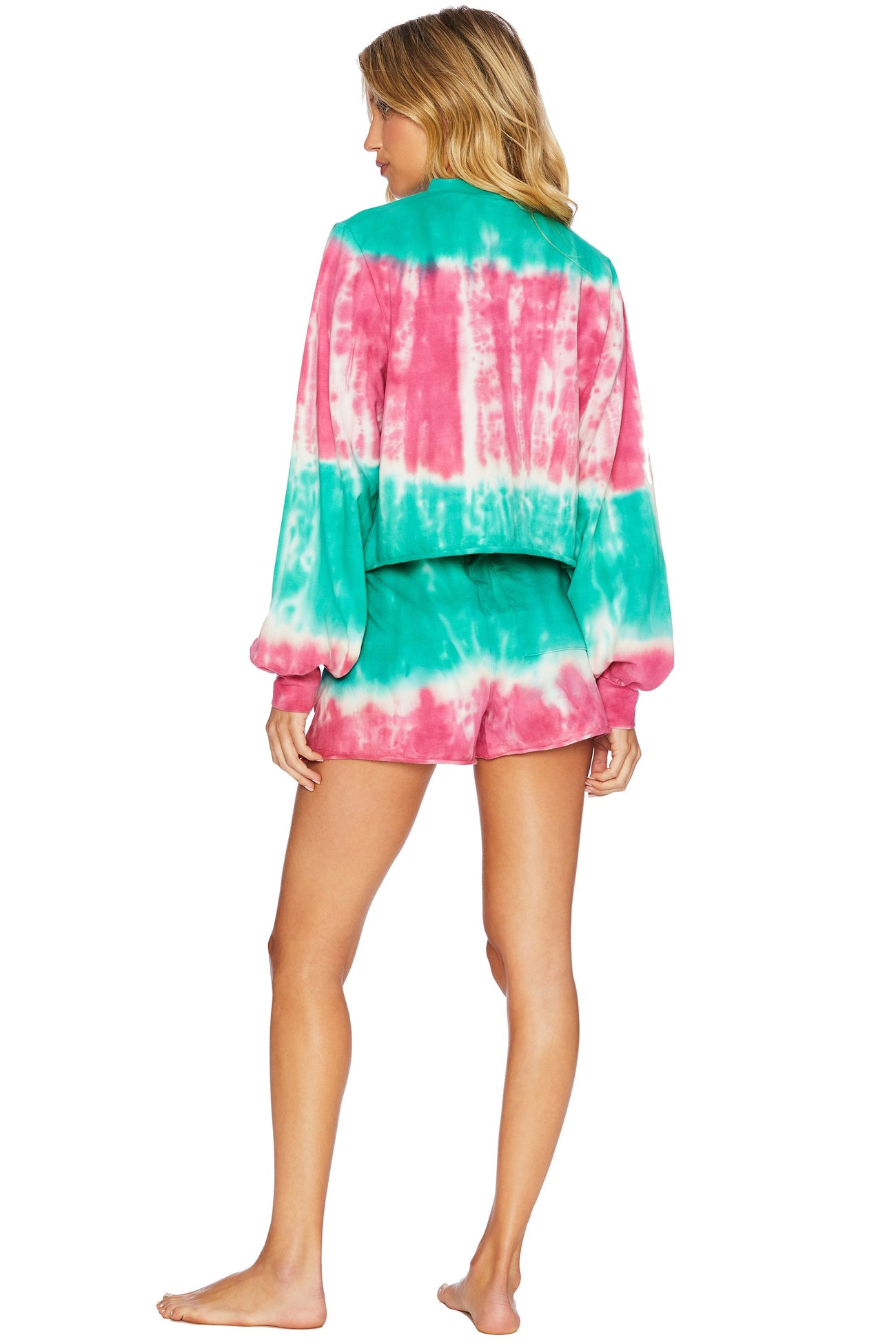 Tie Dye Short in Tea/Azalea