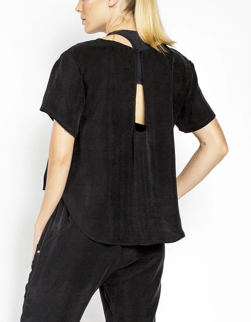 Cupro Tee in Black