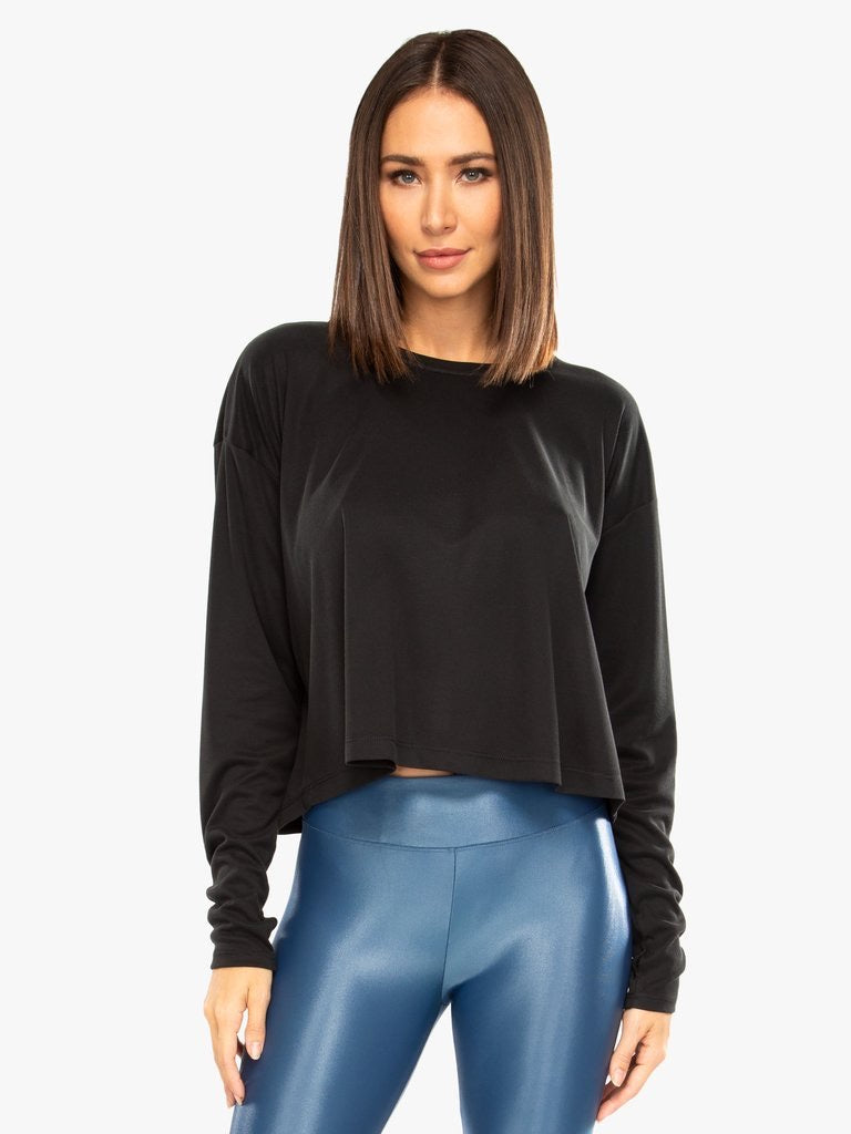 Storm Marlo Long Sleeve Top in Black