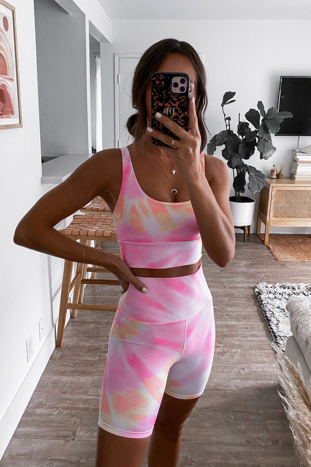 Leah Top in Pink/Orange Tie Dye