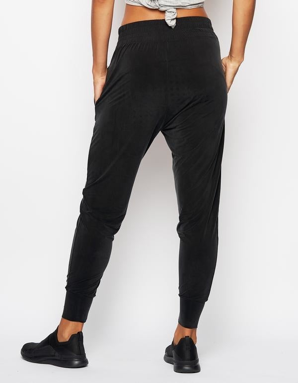 Cupro Joggers in Black