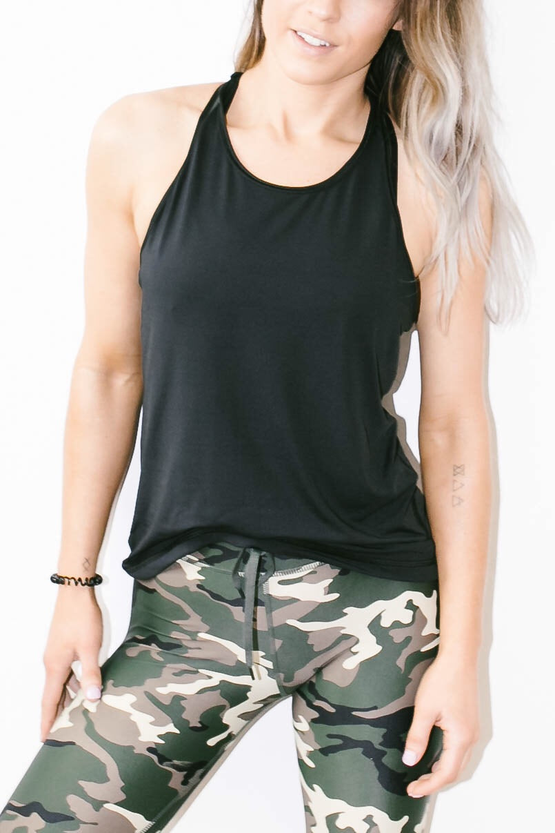T-Back Tank in Black