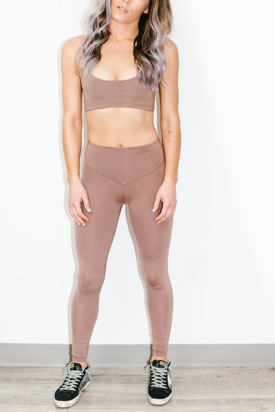 Mateo Full Length Legging in Cocoa