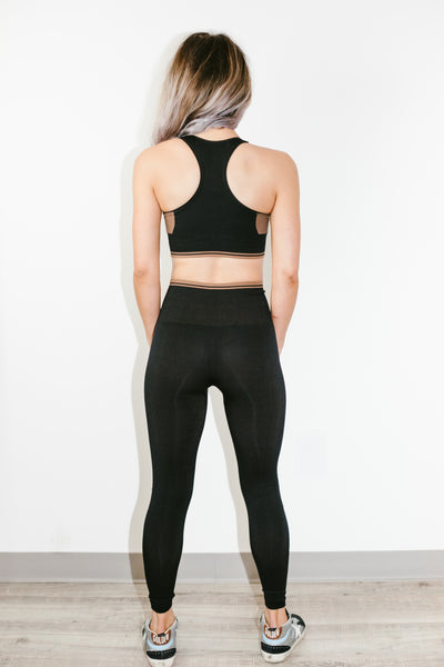 Odesa Legging in Jet/Cocoa