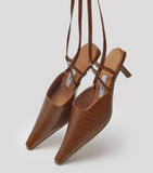 MIISTA NEDDA CLAY TEJUS LEATHER HEELS