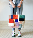 Shearling Tote - Shapes