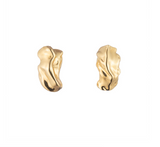 Sterling King Molten Stud Earrings
